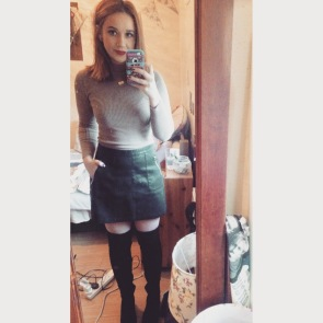 Christmas Day Outfit. Jumper: Penneys/Skirt: New Look/ Boots: Voila