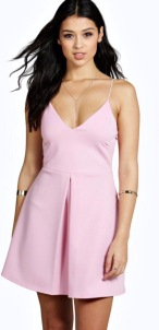http://www.boohoo.com/going-out-dresses/carol-strappy-pleat-front-skater-dress/invt/dzz89768